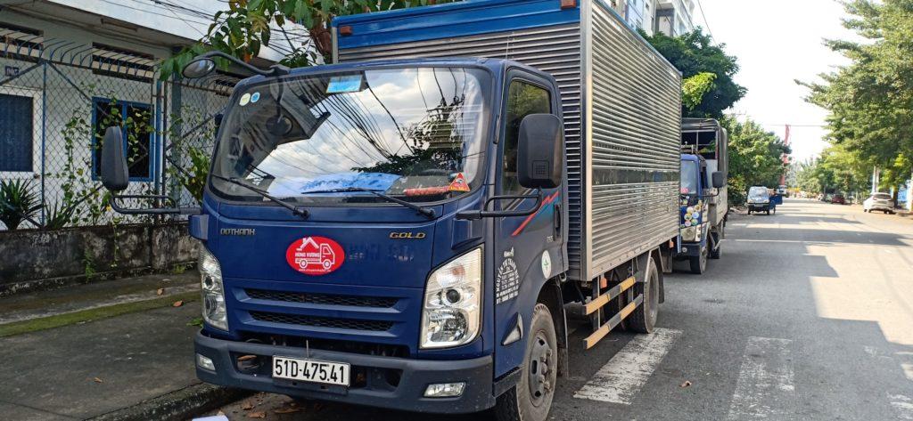 Cho thuê xe tải chở hàng 2,5 tấn