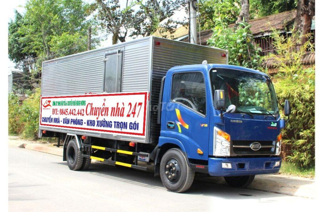 Xe tải chở hàng 2 tấn thùng dài 4m3 , ngang 1m8 , cao 1m9